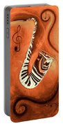 Piano Keys In A Saxophone - Music In Motion Portable Battery Charger