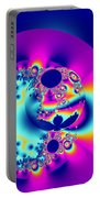 Abstract Pink And Turquoise Fractal Globe Portable Battery Charger