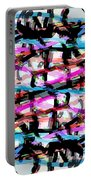 Abstract Pink Portable Battery Charger