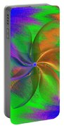 Abstract Pinwheel Portable Battery Charger