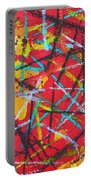 Abstract Pizza 2 Portable Battery Charger