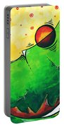Abstract Pop Art Original Painting Portable Battery Charger