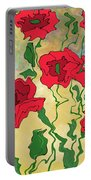 Abstract Poppies Portable Battery Charger
