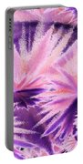 Abstract Purple Flowers Portable Battery Charger