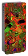 Abstract Rainbow Slider Explosion Portable Battery Charger