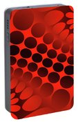Abstract Red And Black Ornament Portable Battery Charger
