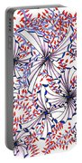 Abstract Red And Blue Design  Portable Battery Charger