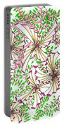 Abstract Red And Green Design #1 Portable Battery Charger