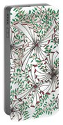 Abstract Red And Green Design  Portable Battery Charger