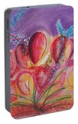 Abstract Red And Purple And Blue Portable Battery Charger