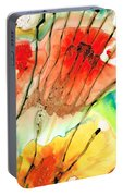 Abstract Red Art - The Promise - Sharon Cummings Portable Battery Charger