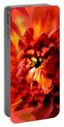 Abstract Red Chrysanthemum Portable Battery Charger