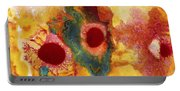 Abstract Red Flower Garden Panoramic Portable Battery Charger