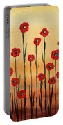 Abstract Red Poppy Field Portable Battery Charger