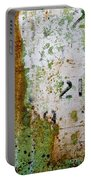 Rust Absract With Stenciled Numbers Portable Battery Charger