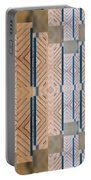 Wood And Blue Portable Battery Charger