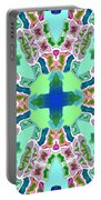 Abstract Seamless Pattern  - Blue Green Purple Pink White Portable Battery Charger
