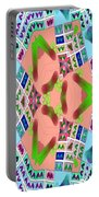 Abstract Seamless Pattern - Blue Pink Green Purple Portable Battery Charger
