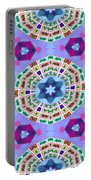 Abstract Seamless Pattern  - Blue Purple Pink Violet Lilac Orange Green Portable Battery Charger