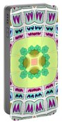 Abstract Seamless Pattern  - Yellow Green Blue Purple White Gray Portable Battery Charger