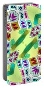 Abstract Seamless Pattern  - Yellow Green Purple Blue Gray White Portable Battery Charger