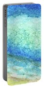 Abstract Seascape Beach Painting A1 Portable Battery Charger