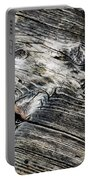 Abstract Shapes On An Old Weathered Wooden Board Portable Battery Charger