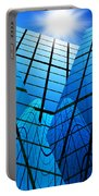 Abstract Skyscrapers Portable Battery Charger