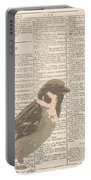 Abstract Sparrow On Dictionary Portable Battery Charger