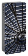 Abstract Spiderweb View Of A Central Tower Skylight At The World Portable Battery Charger
