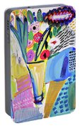 Abstract Still Life With Flowers Portable Battery Charger