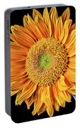 Abstract Sunflower Portable Battery Charger