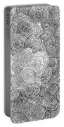 Abstract Swirl Design In Black And White #1 Portable Battery Charger