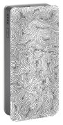 Abstract Swirl Design In Black And White Portable Battery Charger