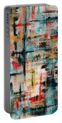 Abstract Teal Crosses Portable Battery Charger