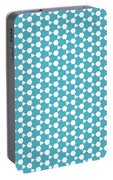 Abstract Turquoise Pattern 1 Portable Battery Charger
