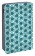 Abstract Turquoise Pattern 3 Portable Battery Charger