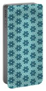 Abstract Turquoise Pattern 4 Portable Battery Charger
