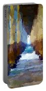 Abstract Under Pier Beach Portable Battery Charger