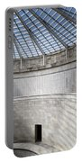Abstract View Of The Central Tower Door With Skylight And Names  Portable Battery Charger