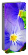 Abstract Violets Portable Battery Charger