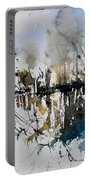 Abstract Watercolor 012130 Portable Battery Charger