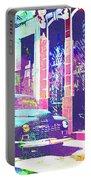 Abstract Watercolor - Havana Cuba Classic Car I Portable Battery Charger
