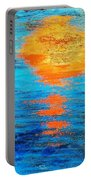 Abstract Watery Sunset Portable Battery Charger
