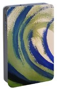 Abstract Waves Portable Battery Charger