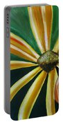 Abstract Yellow Sunflower Art Floral Painting Portable Battery Charger