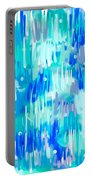 Abstract Winter Portable Battery Charger