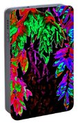 Abstract Wisteria Portable Battery Charger