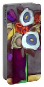 Abstracted Flowers - 4 Portable Battery Charger