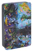 Abstracted Koi Pond Portable Battery Charger